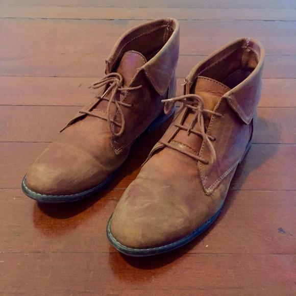 67b5ef6edbf Steve Madden Shoes   Stingrei Cognac Leather Ankle Booties   Poshmark